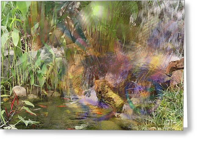 Whispering Waters Greeting Card by John Beck