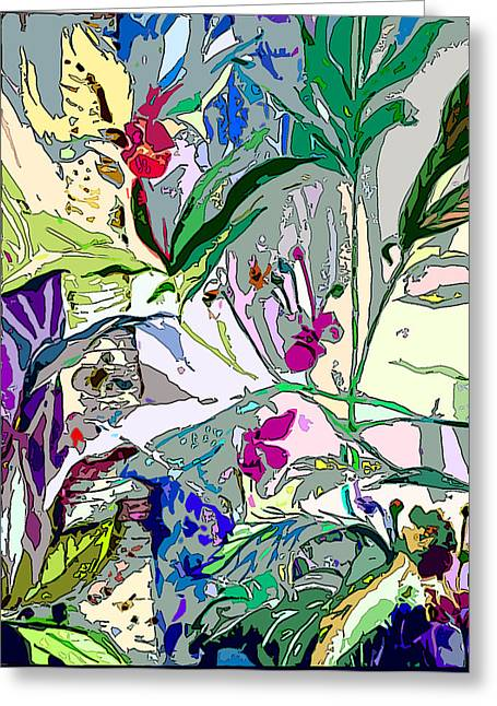 Whispering Wind Flowers Greeting Card by Mindy Newman