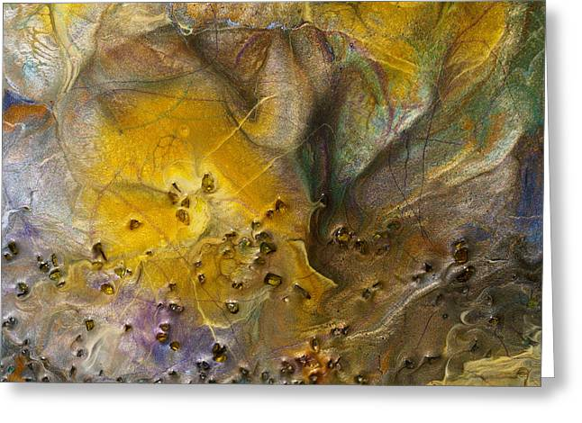 Ultra Modern Mixed Media Greeting Cards - Whispers - Close up detail Greeting Card by Paul Tokarski