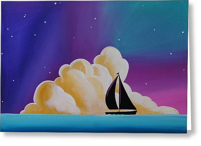 Whispers At Sea Greeting Card by Cindy Thornton