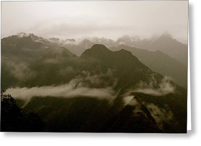Whispers In The Andes Mountains Greeting Card