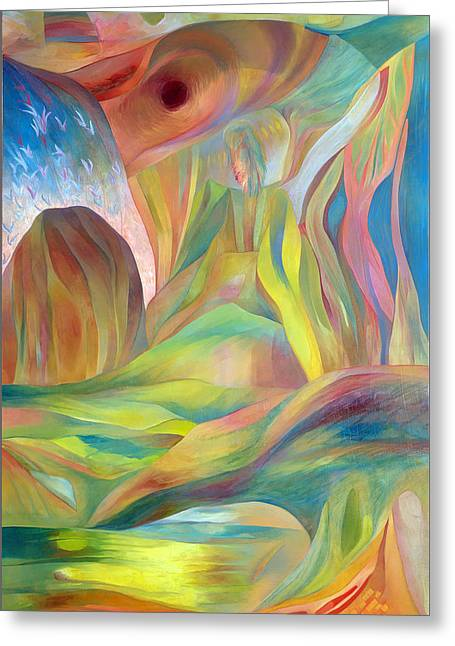 Greeting Card featuring the painting Whispers Of Immortality 2 by Linda Cull