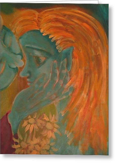 Whispers Greeting Card by Wendy Hassel