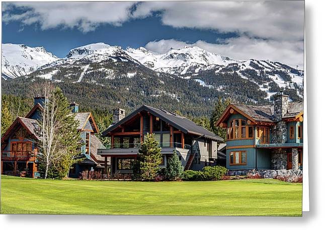 Greeting Card featuring the photograph Whistler Luxury Homes On Nicklaus North  by Pierre Leclerc Photography