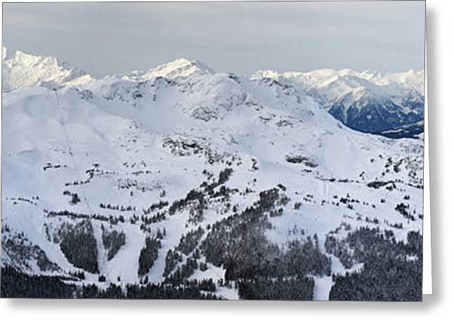 Whistler Greeting Cards - Whistler mountain panorama Greeting Card by Pierre Leclerc Photography