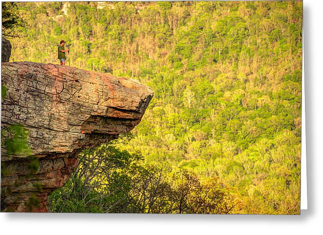 Perspective - Whitaker Point Hawksbill Crag Greeting Card by Gregory Ballos