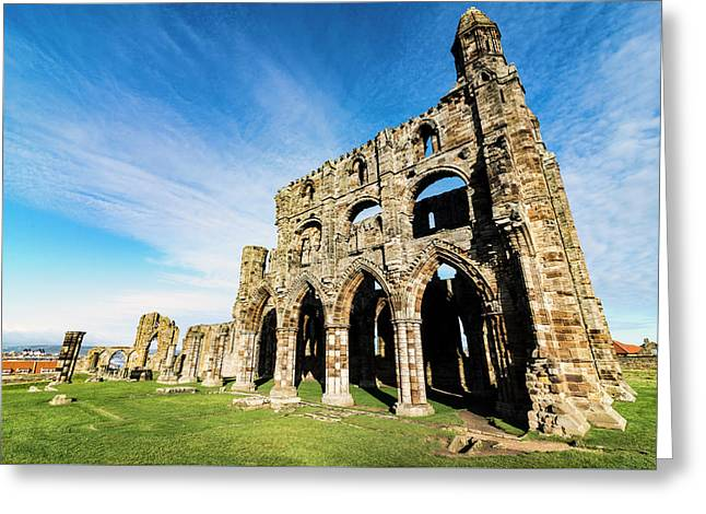Greeting Card featuring the photograph Whitby Abbey by Anthony Baatz