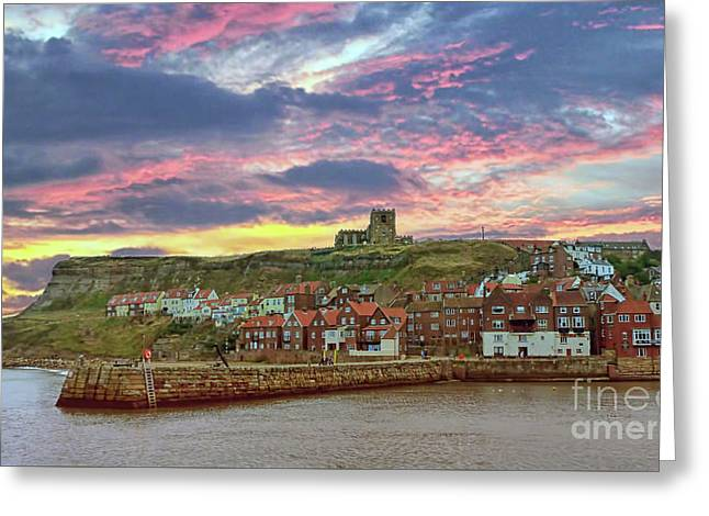 Whitby Abbey Uk Greeting Card