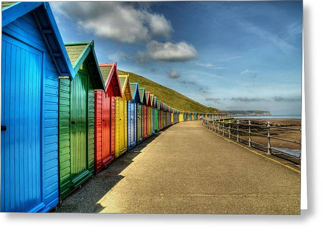 Whitby Beach Huts Greeting Card