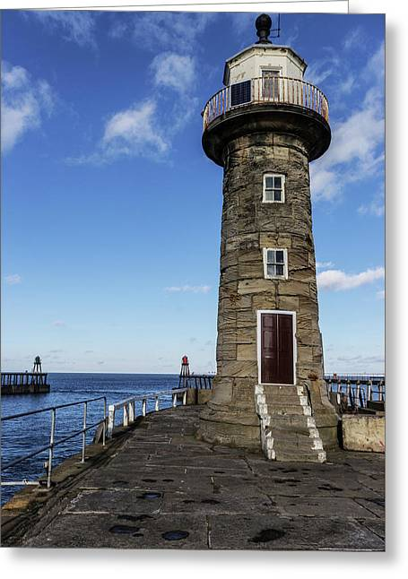 Whitby East Pier Lighthouse Greeting Card