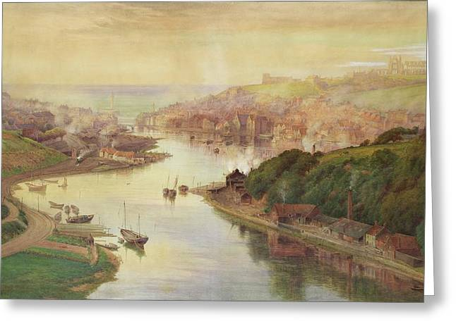 Whitby From Larpool Greeting Card