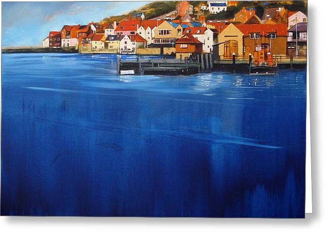 Whitby High Tide Greeting Card by Neil McBride