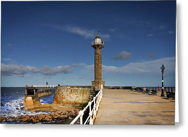 Whitby Lighthouse Greeting Card