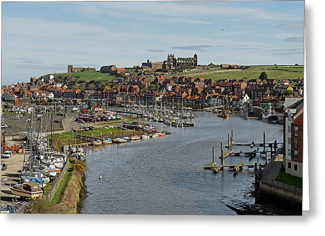 Whitby Marina And The River Esk Greeting Card by Rod Johnson