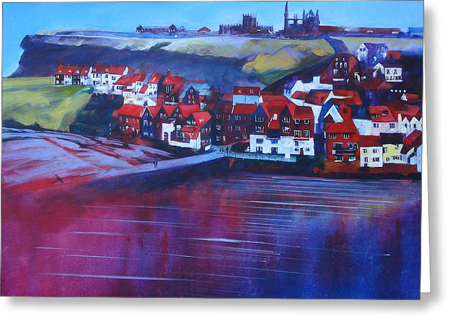 Whitby Smokehouses Greeting Card by Neil McBride