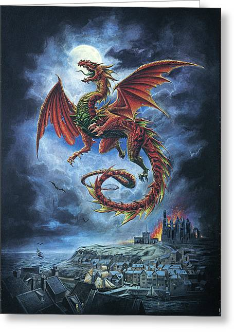 Whitby Wyrm  Greeting Card