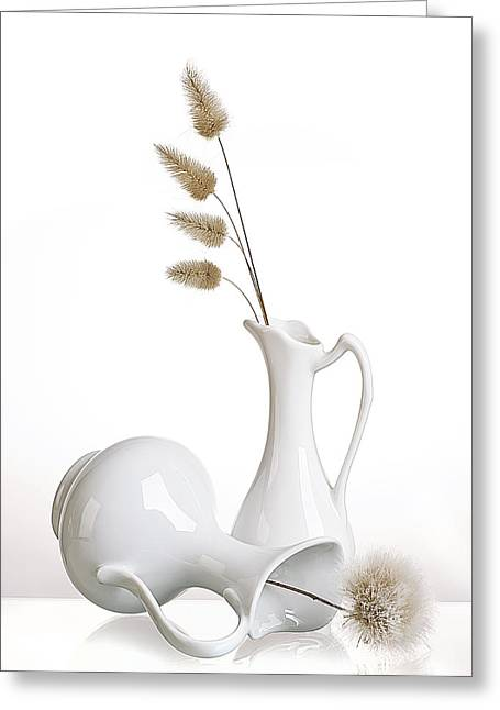 White Greeting Card by Aida Ianeva