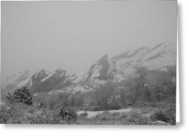 White And Red Rocks Greeting Card by Brian Anderson
