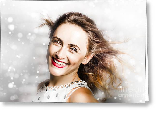 White As Snow  Greeting Card by Jorgo Photography - Wall Art Gallery