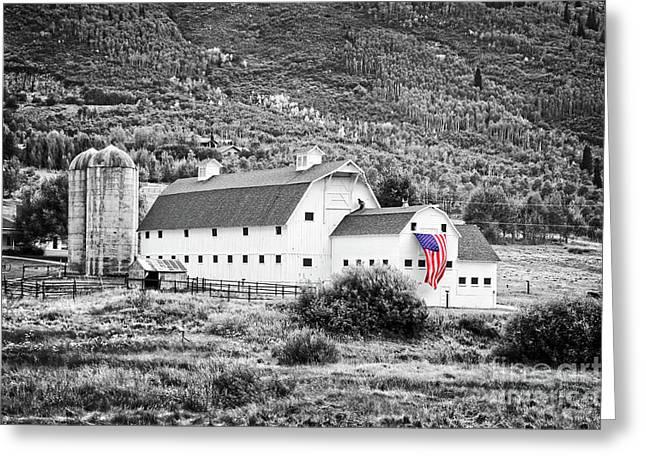 White Barn Greeting Card