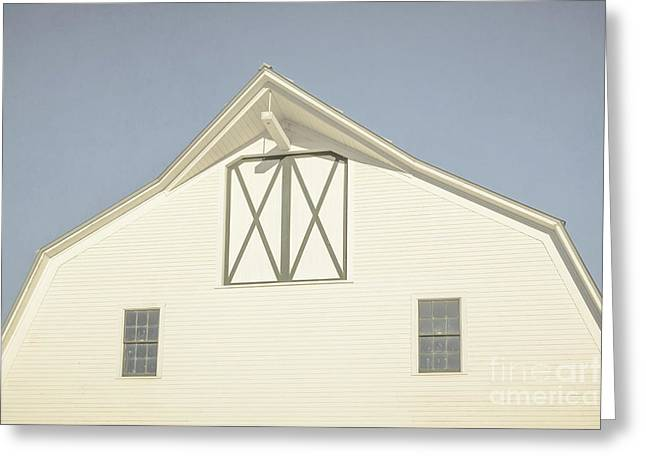 White Barn South Woodstock Vermont Greeting Card by Edward Fielding