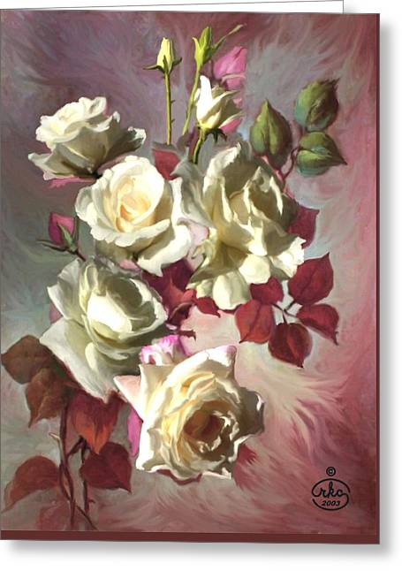 White Beauty Greeting Card by Ron Chambers