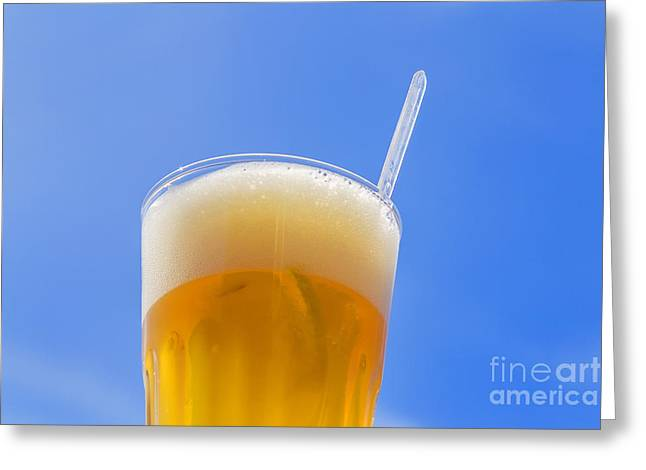 White Beer Against Blue Siky Greeting Card