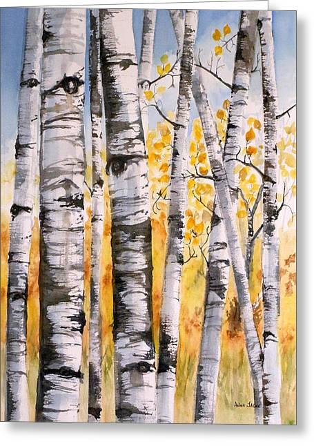 White Birch Meadow Greeting Card