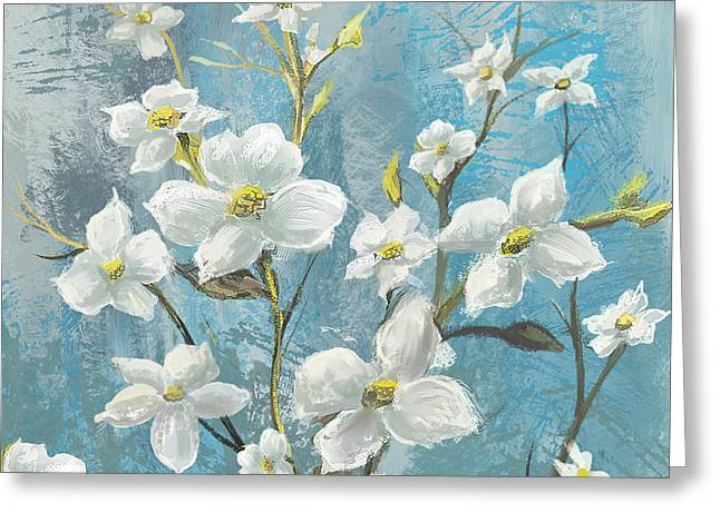 White Bloom Greeting Card by Anthony Christou