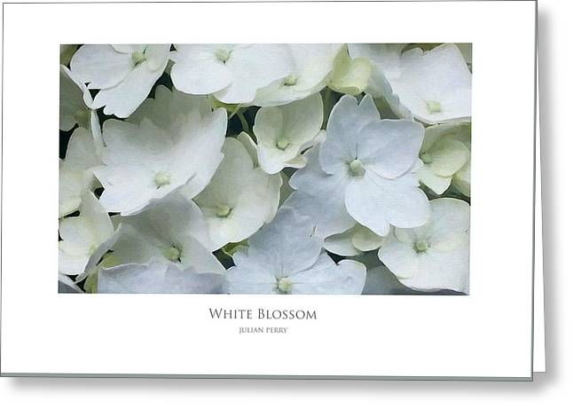 White Blossom Greeting Card