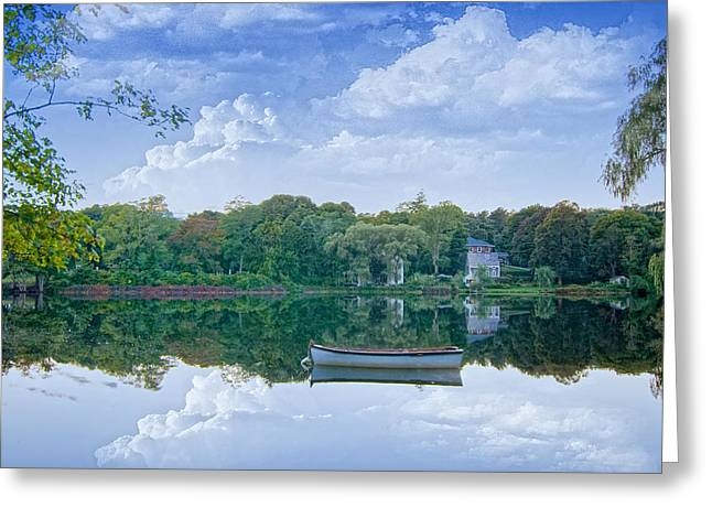 White Boat Greeting Card