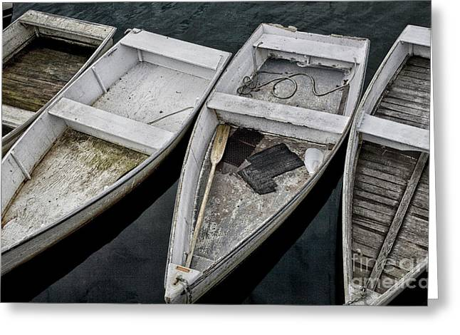 White Boats Greeting Card