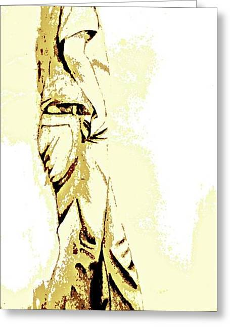 White Boy Standing On Table Greeting Card by Sheri Buchheit