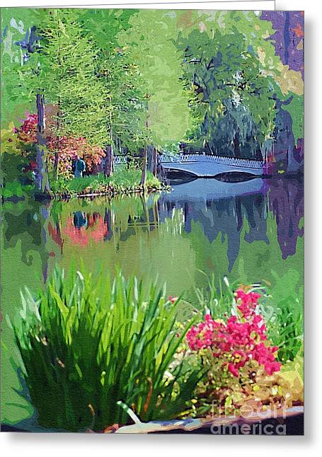 White Bridge Greeting Card