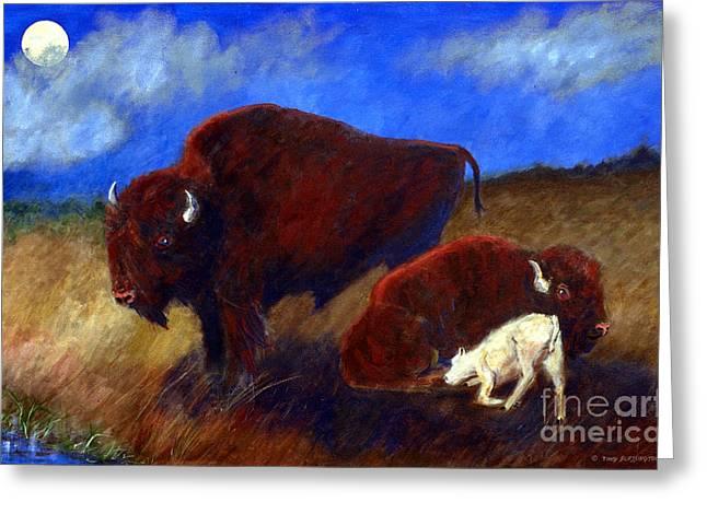 White Buffalo Calf Greeting Card