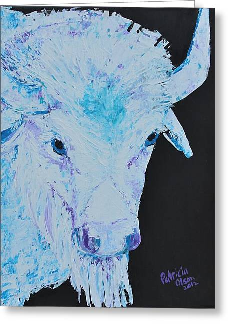 White Buffalo Greeting Card