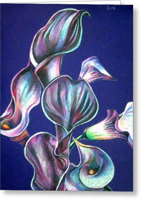 White Calla Greeting Card by Chifan Catalin  Alexandru