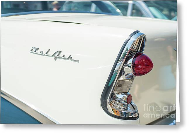 White Chevy Belair Classic Greeting Card
