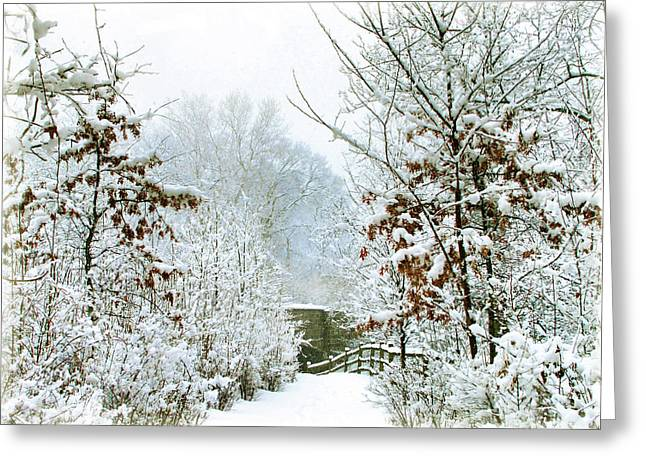 White Christmas Greeting Card by Jessica Jenney