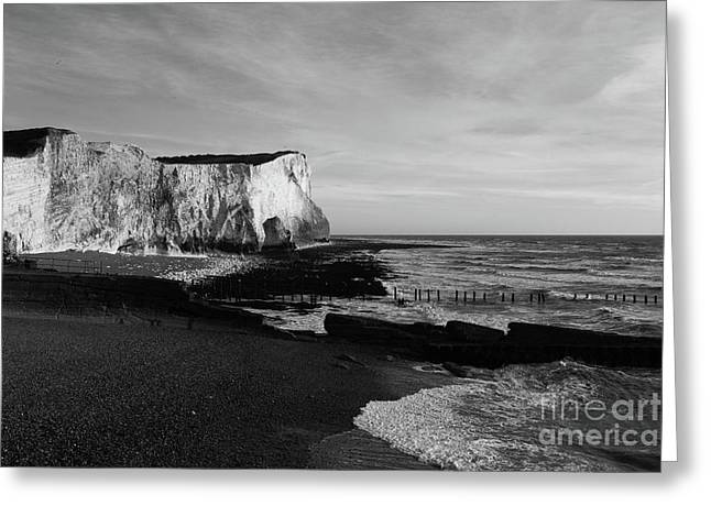 White Cliffs Of England At Seaford Head Greeting Card