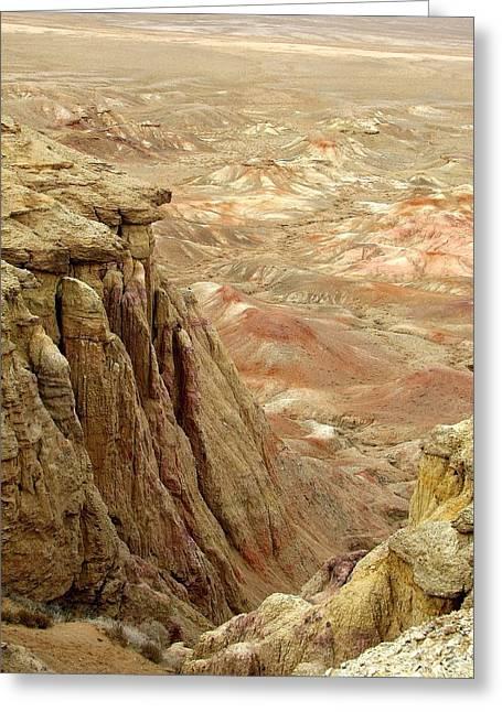 White Cliffs Of Gobi Desert Greeting Card by Diane Height