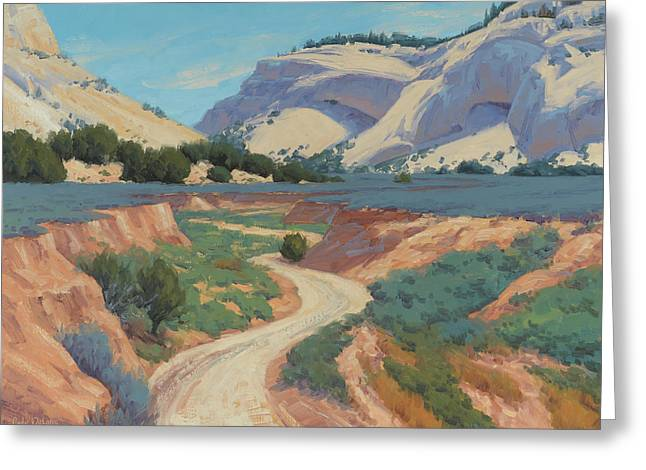 White Cliffs Of Johnson Canyon 18x24 Greeting Card
