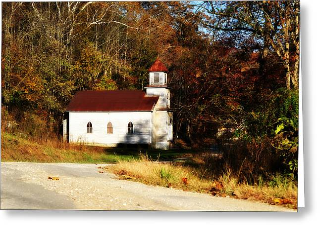 White Country Church  Greeting Card