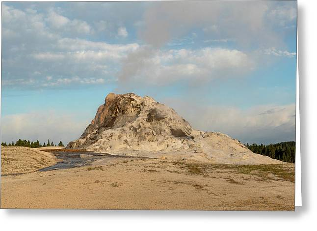 White Dome Geyser Greeting Card
