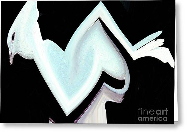 Greeting Card featuring the digital art White Dove - Like A Salvador Dali Painting by Merton Allen