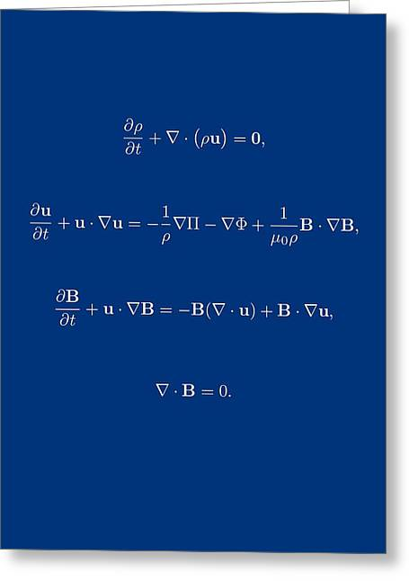 White Equation Greeting Card by Jean Noren