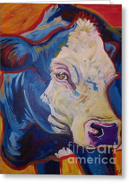 White Face Cow Greeting Card