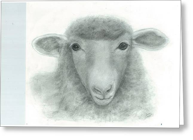 White Face Sheep Greeting Card