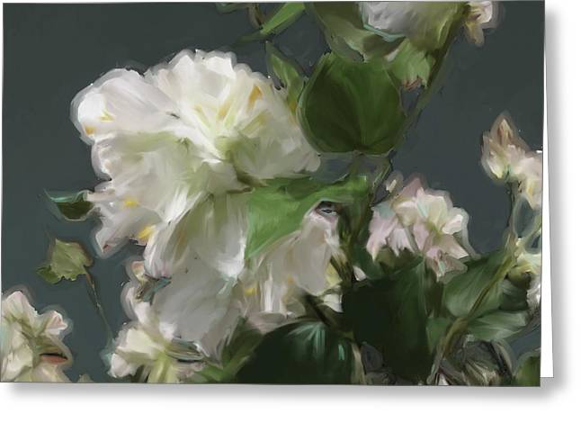 White Flowers 103 Greeting Card