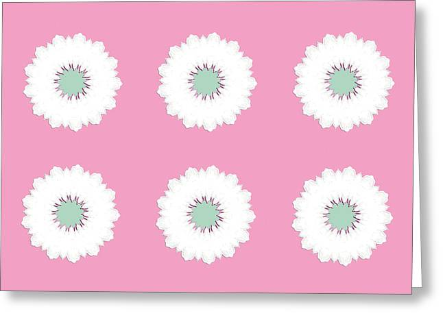 Greeting Card featuring the digital art White Flowers by Elizabeth Lock